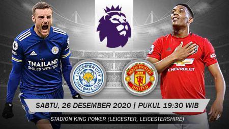 Berikut ini link live streaming pertandingan Liga Inggris antara Leicester vs Manchester United yang akan berlangsung pada Sabtu (26/12/20) malam WIB. - INDOSPORT