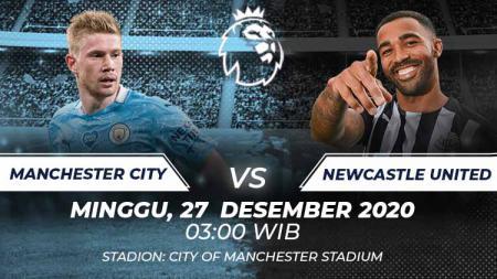 Prediksi pertandingan Liga Inggris antara Manchester City vs Newcastle United, Minggu (27/12/20). - INDOSPORT