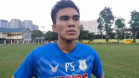 Paulo Sitanggang saat berlatih bersama PSMS Medan. - INDOSPORT