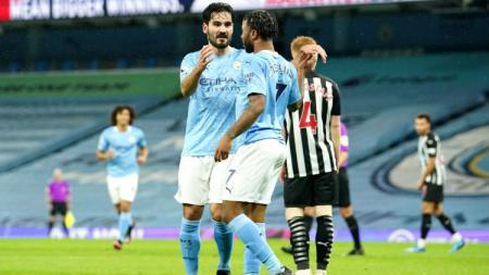 Selebrasi gol Ilkay Gundogan di laga Manchester City vs Newcastle United - INDOSPORT