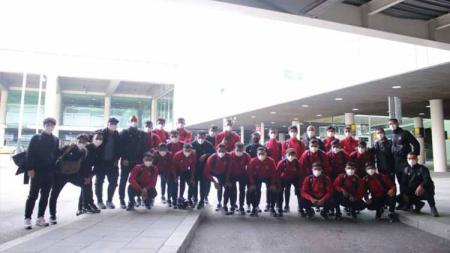 Rombongan Timnas U-19 telah sampai di Spanyol. - INDOSPORT