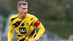 Indosport - Steffen Tigges, pemain Borussia Dormtund 'kembaran' Erling Haaland.