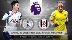 Indosport - Pertandingan Tottenham Hotspur vs Fulham (Liga Inggris).