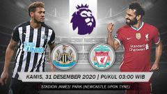 Indosport - Berikut link live streaming pertandingan pekan ke-16 Liga Inggris 2020-2021 antara Newcastle United vs Liverpool, Kamis (31/12/20) mulai pukul 03:00 WIB