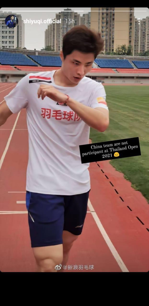 Ungkapan Kekecewaan Shi Yuqi yang Batal Main di Yonex Thailand Open Copyright: Instagram/@shiyuqi.official
