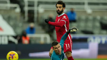 Peluang Mohamed Salah di laga Newcastle United vs Liverpool. - INDOSPORT