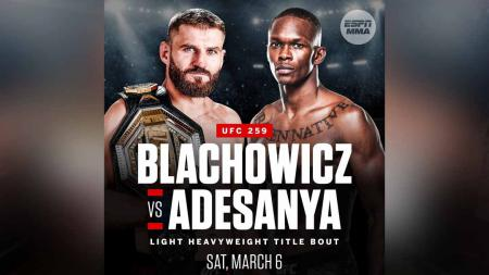Israel Adesanya vs Jan Blachowicz. - INDOSPORT