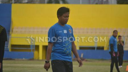 Asisten pelatih Sriwijaya FC, Ananto Nurhani. - INDOSPORT