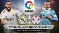 Indosport - Pertandingan Real Madrid vs Celta de Vigo (LaLiga).
