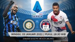 Indosport - Pertandingan Inter Milan vs Crotone (Serie A).
