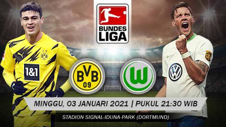 Berikut link live streaming pertandingan Bundesliga Jerman pada pekan ke-14 antara Borussia Dortmund vs Wolfsburg. - INDOSPORT