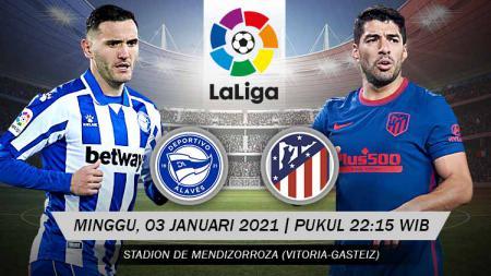 Berikut link live streaming Pertandingan LaLiga Spanyol antara Deportivo Alavés vs Atletico Madrid. - INDOSPORT