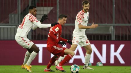 Aksi Lewandoski Bersama Bayern Mucnhen Saat Menghadapi Mainz 05 - INDOSPORT