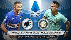 Indosport - Pertandingan Sampdoria vs Inter Milan (Serie A).