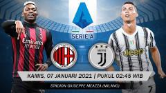 Indosport - Pertandingan AC Milan vs Juventus (Serie A).
