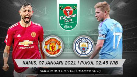 Pertandingan Manchester United vs Manchester City (Carabao). - INDOSPORT
