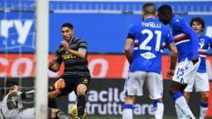 Indosport - Pemain Inter Milan saat Menghadapi Sampdoria