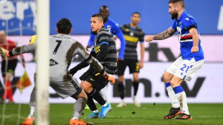 Pemain Inter Milan, Alexis Sanchez Saat Menghadapi Sampdoria - INDOSPORT