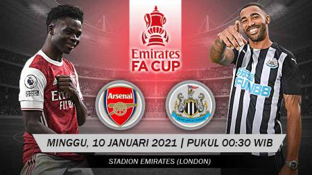 Pertandingan Arsenal vs Newcastle United (FA Cup). - INDOSPORT