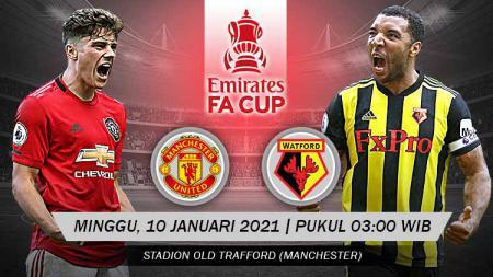 Prediksi pertandingan Piala FA antara Manchester United vs Watford, Minggu (10/1/21). - INDOSPORT