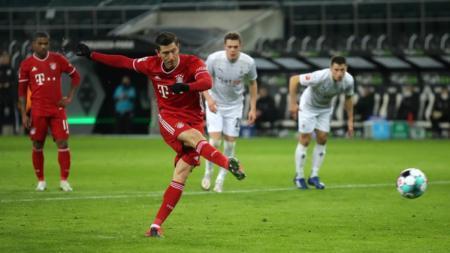 Bayern Munchen harus mengakui keunggulan Borussia Monchengladbach dalam laga lanjutan pekan ke-15 Bundesliga Jerman di Borussia-Park, Sabtu (09/01/2021). - INDOSPORT