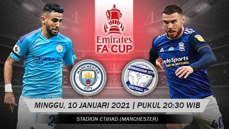 Pertandingan Manchester City vs Birmingham City (FA Cup). - INDOSPORT