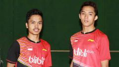 Indosport - Pebulutangkias Indonesia, Anthony Ginting dan Jonatan Christie.