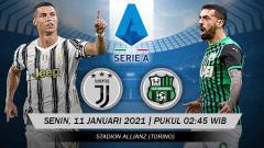 Indosport - Pertandingan Juventus vs Sassuolo (Serie A).