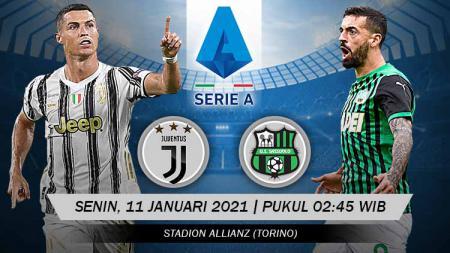 Berikut tersaji link live streaming pertandingan Serie A Liga Italia 2020-2021 antara Juventus vs Sassuolo yang akan berlangsung pada Senin (11/01/21). - INDOSPORT