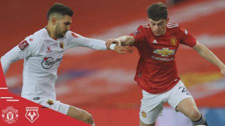 Aksi Pemain Manchester United saat Menghadapi Watford di Piala FA - INDOSPORT