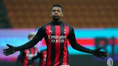 Indosport - Rafael Leao merayakan gol yang ia cetak untuk AC Milan saat jumpa Torino