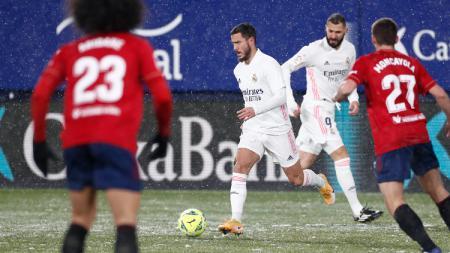 Zinedine Zidane tuding Real Madrid imbang lawan Osasuna gara-gara salju. Toni Kroos malah bongkar borok tim pasca laga LaLiga Spanyol itu. - INDOSPORT