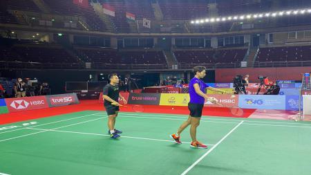Timnas Bulutangkis Indonesia uji coba arena Yonex Thailand Open 2021 - INDOSPORT