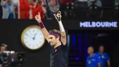 Indosport - Petenis Swiss, Roger Federer.