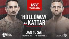 Indosport - Max Holloway vs Calvin Kattar di UFC Fight Island 7.