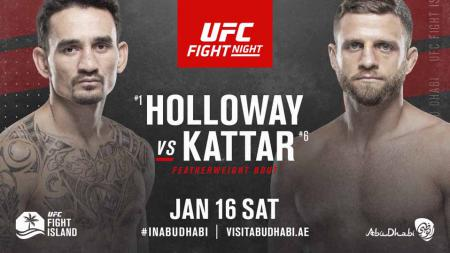 Max Holloway vs Calvin Kattar di UFC Fight Island 7. - INDOSPORT