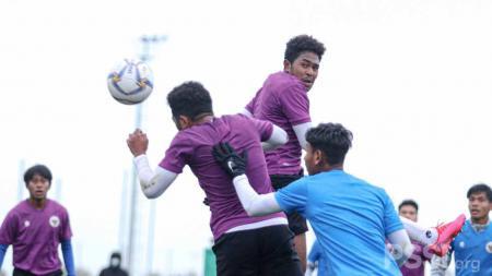 Laga internal game kedua Timnas Indonesia U-19 di Spanyol. - INDOSPORT
