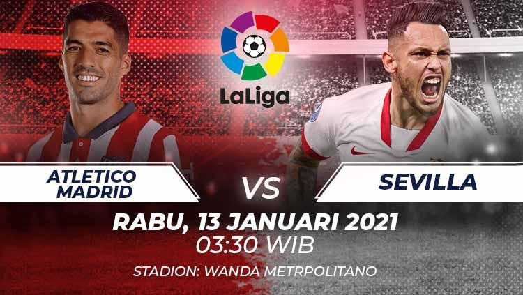 Link Live Streaming Pertandingan LaLiga Spanyol: Atletico Madrid vs Sevilla
