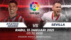 Indosport - Pertandingan Atletico Madrid vs Sevilla.