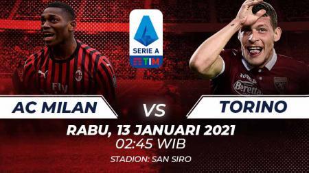 Berikut prediksi pertandingan babak 16 besar Coppa Italia 2020/21 antara AC Milan vs Torino di San Siro, Rabu (13/1/21) dini hari WIB. - INDOSPORT