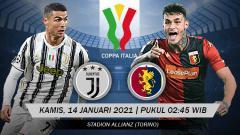 Indosport - Link Live Streaming Coppa Italia: Juventus vs Genoa