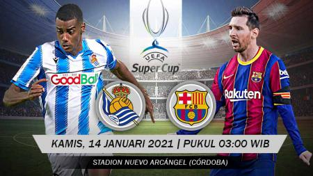 Pertandingan Real Sociedad vs Barcelona (Super Cup). - INDOSPORT