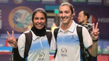 Pasangan ganda putri Mesir, Doha Hany/Hadia Hosny sudah harus menjadi korban skor Afrika meskipun baru bermain di babak pertama Yonex Thailand Open 2021. - INDOSPORT