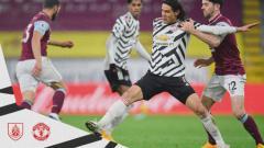Indosport - Edinson Cavani di Pertandingan Burnley vs Manchester United di Liga Inggris