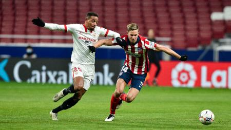 Pertandingan Liga Spanyol antara Atletico Madrid vs Sevilla - INDOSPORT