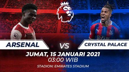 Arsenal vs Crystal Palace. - INDOSPORT