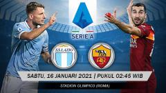 Indosport - Pertandingan Lazio vs AS Roma (Serie A).