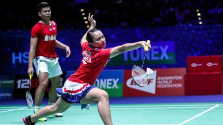 Melihat aksi backhand dari Melati Daeva Oktavianti yang perdaya wakil Prancis di Yonex Thailand Open 2021 dan dipuji komentator asing. - INDOSPORT