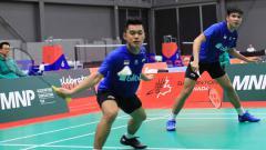 Indosport - Pebulutangkis Ganda Putra Indonesia, Leo Rolly Carnando dan Daniel Marthin.