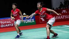 Indosport - Pebulutangkis Ganda Putri Indonesia, Greysia Polii dan Apriyani Rahayu.